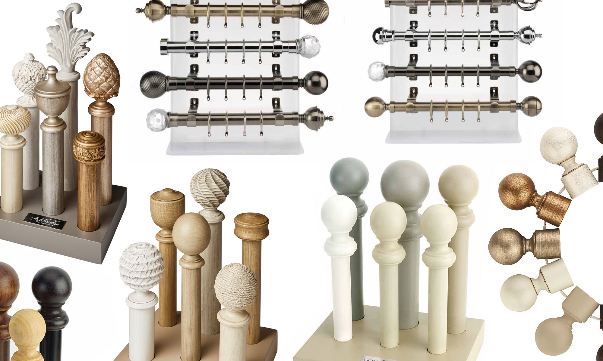 Wooden Or Metal Curtain Pole